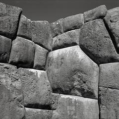 Inca Stonework, Sacsayhuaman, Cusco, Peru (austin granger) Tags: inca stonework stones blocks sacsayhuaman cusco peru wall fortress citadel evidence time archaeology square film gf670