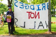 Anti-Trump Demonstration in Edinburgh (@Tuomo) Tags: scotland edinburgh demonstration true antitrump politics people democracy reportage sony a7r3 ariii sel24105g