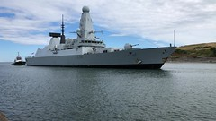 HMS Diamond - Aberdeen Harbour Scotland 11/8/18 (DanoAberdeen) Tags: missile guidedmissile seafarers sailor footdee fittie torry iphonevideo iphone8plus film video mpeg gunship britain madein british defence war warship navy airdefence destroyer vessel ship boat amateur candid britishnavy royalnavy aberdeenharbour 2018 danoaberdeen hmsdiamond d34 radar surveeillance warfare torpedo harpoon launchers type1046 navigation draught diesel generators surfacefleet hmsdiamondd34 navalbase portsmouth psv tug tugboat aberdeen scotland grampian riverdee bluesky metal northsea northeast workboats maritime pocraquay wasser water offshore geotagged aberdeenscotland scottish seashore coastline danophotography