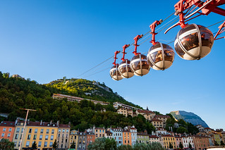 Les bulles, la Bastille, Grenoble.