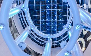 blue light column
