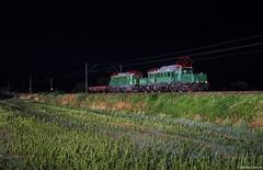 Mit Krokodil E94 088 und E44 1170 durch die Nacht ((Mathias Dersch)) Tags: kbs703 e44 e441170 blitz nacht zug überführung e94 e94088 3seenbahn