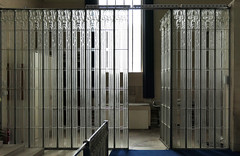 Lily glass panels - glass and spaces combined (Monceau) Tags: lily glass panels glasschurch stmatthewschurch jersey millbrook renélalique lalique