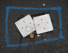 This is not art. No. 26. (Dave Whatt) Tags: notart foundart composition serendipity street pavement creativity unintended