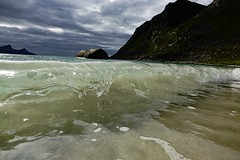 Wave at Haukland beach, Norway. (paul.knightley) Tags: surf breaking ocean arctic aqua sony sea water shorebreak beach wave