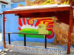 Bus stop (_Dimitris_) Tags: kalymnos aegean greece grèce griechenland grecia greek greekislands grekland europe europeonflickr ελλάδα ελλαδα ελλάσ ελλασ island
