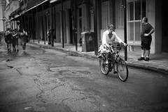 Streets of New Orleans (michael.mu) Tags: frenchquarter leica neworleans noctilux reddress m240 streetphotography leicanoctiluxm50mmf095asph blackandwhite bw monochrome