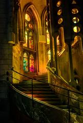 La Sagrada Familia (seantindale) Tags: lasagradafamilia hdr stainedglass window olympus omdem5markii travel europe spain architecture dramatic barcelona church