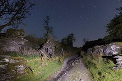 Following the Torch (Rob Pitt) Tags: betwsycoed night photography rhiwddolion forgotten village at light painting cymru wales tokina 1116 dusk grass wall ruins