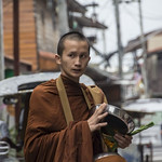 Monk and alms. thumbnail
