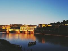 Twilight... Arno River... Firenze (Antónia Lobato) Tags: firenze arno river fiume twilight florence florença italia