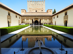 Pool at Alhambra, Granada Spain (die Augen) Tags: alhambra granada spain pool reflecting nikon coolpix b700 httpswwwflickrcomphotostagsarchitecture water reflections sky architecture