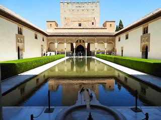 Pool at Alhambra, Granada Spain