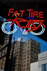 Reflection in Birmingham (Patrick Doreau) Tags: american red reflection bière ale belgium vélo reflet immeuble building
