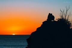 The sun gone (Isai Hernandez) Tags: personas follower beauty wonderfull landscape contraluz backlight naranja orange nicaragua