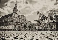 Ironman Maastricht (Arjan van den Oudenrijn) Tags: blackandwhite white black gemeentehuis cityhall markt cycling 2018 maastricht ironman oudenrijn vandenoudenrijn arjan adrianusz adrianus adrianuz