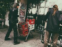it's Friday again (.Dirk) Tags: berlin olympusepm1 mzuiko1718 street people prime mft m43 friday beer freitag bier seniorpunker sternburg budweiser tyskie berlinerkindl schöneberg