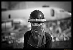 Female Builder - Thailand construction site (FimRay) Tags: blackandwhite bw monotone monochrome thailand people street streetphotography traditionalstreet woman female builder constructionsite asian worker asia leica m m240 summilux 50mm asph portrait