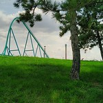 Some trees, a hill, and a roller coaster thumbnail