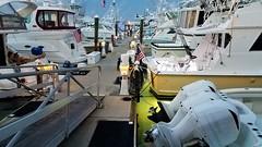 Key West dusk in the harbor (V-rider) Tags: rhm ralph vrider97 jane wife keywest honeymoon floridakeys keys florida travel bike adventure sail hobiecat catamaran sunset boats