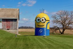 Minion Silo (Trippin' TIki) Tags: minion silo rural farm barn tree whimsy offbeat roadsideattraction