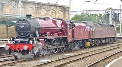 Steam & Diesel, Carlisle (Jeff Mckever) Tags: 45699galatea 47245 class47 thefellsman jubileeclass6p 460 carlisle lancaster settle