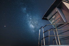 No Life (hitmanfre1) Tags: santabarbara santa barbara beach lifeguard tower sky tokina wideangle long exposure longexposure skyscape mars california cali southerncalifornia socal nikon d7200 star stars milky way milkyway night nightphotography nighttime nightsky astrophotography coast