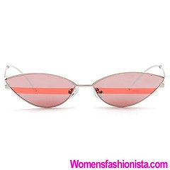 INS Futuristic Cateye Sunglasses Metal Frame Vintage Steampunk Sunglasses Small Frame Mirror Glasses Transparent Lens (womensfashionista) Tags: cateye frame futuristic glasses ins lens metal mirror small steampunk sunglasses transparent vintage