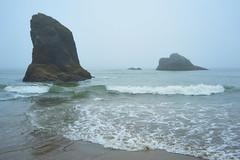 Ancient Remnants (Obsidianphotog) Tags: oregon ocean coast maxwellpoint fog oceanside nature outdoors