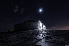 Moonlight Path... (Constantinos_A) Tags: sony alpha a6300 outdoors church architecture building night low key long exposure photography spata athens greece neapolis stjohn