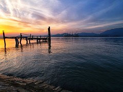 IMG_2674 ~ menjejak mentari terbenam (alongbc) Tags: sundown ship cloud water coast jetty lumut perak malaysia travel place trip canon eos700d canoneos700d canonlens 10mm18mm wideangle esplanade