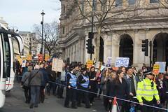 Protest (lazy south's travels) Tags: london england english britain british uk road street scene urban political protest man woman uniform democracy democratic pensions student strike