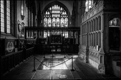 St Mary Magdalene (G. Postlethwaite esq.) Tags: bw newark nottinghamshire sonya7mkii stmarymagdalene blackandwhite fullframe mirrorless monochrome photoborder stainedglass window