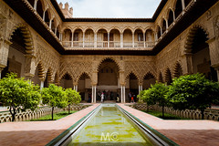 The sign of a culture (Mariano Colombotto) Tags: seville sevilla spain españa architecture arquitectura nikon travel tourism courtyard patio realalcazar reflection photographer photography mudejar ngc