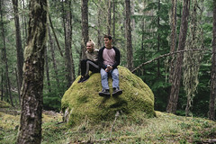Mossy Rock (JeffAmantea) Tags: moss mossy rock boulder sit sitting hanging out forest trees green people slocan lake kootenays kootenay kootenaylife bc british columbia beauty canada silverton new denver outdoor outside hike explore lounge serene sonyalpha sony alpha a7ii emount mirrorless metabones nikon nikkor 50mm f14