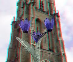 Nieuwe Kerk Delft 3D (wim hoppenbrouwers) Tags: nieuwekerk delft 3d anaglyph stereo redcyan tower church toren