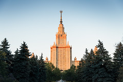 Sunset scene of Moscow state university (jack-sooksan) Tags: university state moscow russia sunshine sunlight sunset campus house building educational education tallest architecture christian christ famous institution study pine tree center academy graduate school college student edifice history historical residence europe blue sky tower lanmark
