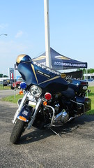 Indiana State Police (Emergency_Spotter) Tags: indiana state police indianapolis harley davidson classic notre dame blue gold