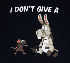 """I Don't Give A Rats Ass"" T-Shirt (Lisa Zins) Tags: apparel tshirt shirt humor funny silly punsintendedshirtcollection puns amazon lisazins idontgivearatsass rat ass donkey jackass mule clothing cartoon humorous novelty tees noveltytees noveltytshirts logo"