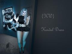 Kendal Dress Black (Kayla ƘƧ) Tags: freya hourglass maitreya dress kendal cute pretty kittywhiskers kw {kw} secondlife sl marketplace