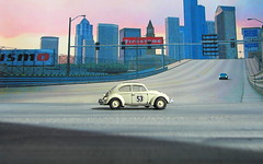 1:76 Scale Diecast Model Herbie Love Bug 53 VW Beetle By Oxford Diecast Limited Swansea Wales United Kingdom 2017 : Diorama PS2 GT4 Game Backdrop Print Out Seattle - 5 Of 19 (Kelvin64) Tags: 176 scale diecast model herbie love bug 53 vw beetle by oxford limited swansea wales united kingdom 2017 diorama ps2 gt4 game backdrop print out seattle