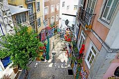 Lisbon (kirstiecat) Tags: lisbon lisboa portugal fado musician guitar depth architecture streetart europe travel canon street