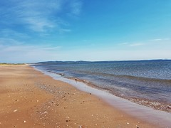 Day 2 - The beach along the dunes that connect Cap Aux Meules Island with Havre Aubert Island. (Bobcatnorth) Tags: lesilesdelamadeleine magdalenislands quebec canada summer 2018 cycling velo bicycle bicycling cycletouring bicycletouring touring tourdevelo gulfofstlawrence