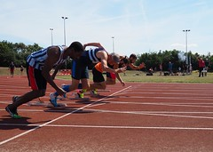 On the B of Bang (singinghedgehog) Tags: 365the2018edition 3652018 day223365 11aug18 project365 athletics sprinting masters