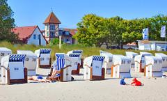 Strand in Kühlungsborn / Mecklenburg Vorpommern (Wolfgang.W. ) Tags: strand kühlungsborn ostsee küste strandkörbe mecklenburgvorpommern