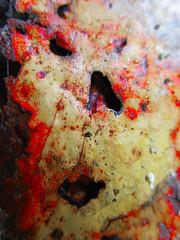 """Let's face it .. Decay"" MM (seanwalsh4) Tags: decay metal rusty rust face macro small pareidolia seeingfacesinthings hmm 06082018 seanwalsh macromondays interest beauty deterioration disintegrating metalrot weathered rotten scream"