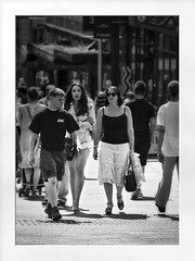 busy street (Mallybee) Tags: f4258 vivitar bw blackwhite lumix panasonic dcg9 g9 street busy streetphoto women shopping viviatar 70300mm oldlens manual