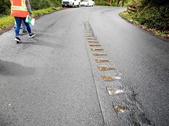 rain and rumble strips (citymaus) Tags: highway 1 marin county bayarea california pacific coast rain rumble strips strip centerline