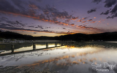 Chelsea's sunset. (Steve Daggar) Tags: sunset wharf jetty reflection reflections woywoy gosford nswcentralcoast