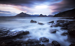 A tonic for the soul. (lawrencecornell25) Tags: landscape waterscape scenery scotland skye elgol blackcuillin mountains lochscavaig longexposure nature outdoors sunset coast rockyshore nikond5